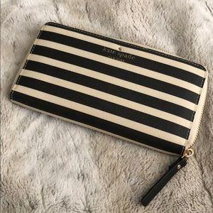 Kate Spade Striped Zip Wallet